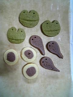 カエルクッキー焼きました